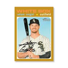 Adam Engel 2020 Topps Heritage Baseball Base Cards Poster Gold ...