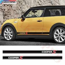 Super Promo C10677 Car Stickers Door Side Skirt Racing Stripes For Mini R56 R60 R61 F54 F55 F56 Cooper S Graphics Vinyl Decal Fit 3 5 Doors Cicig Co