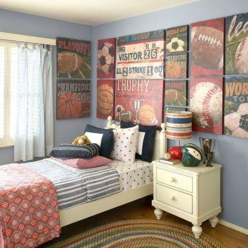 Kids room Sports Canvas Art