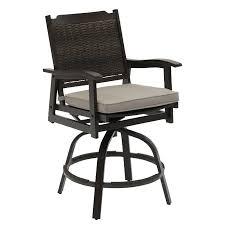 wicker patio swivel bar stool