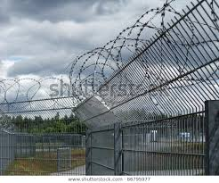 Detail Safety Fence Near Racetrack Southern Buildings Landmarks Stock Image 86795977