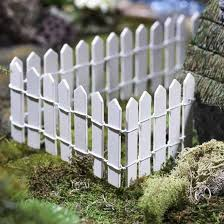 Miniature White Wood Picket Fence Fairy Garden Supplies Dollhouse Miniatures Doll Supplies Craft Supplies Factory Direct Craft