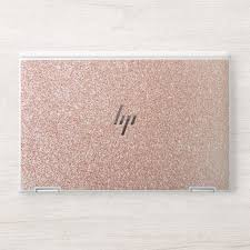 Fancy Faux Rose Gold Glitter Print Hp Laptop Skin Zazzle Com Custom Laptop Skin Hp Laptop Skin Hp Laptop