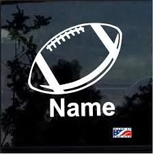Custom Football With Your Kids Name Window Decal Sticker Custom Sticker Shop
