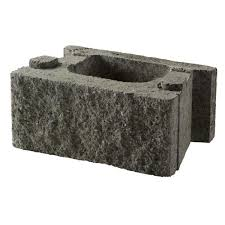 grey concrete retaining wall block
