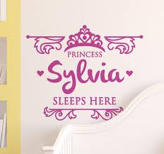 Kids Princess Sleeps Here Wall Sticker Wall Sticker Wall Stickers Kids Stickers