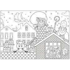 Bol Com 18x Papieren Sinterklaas Kleurplaat Placemats Voor