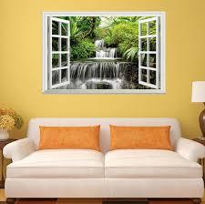 Big Old Green Tree 3d Fake Window Wall Stickers Home Room Decor Art 20 28 34
