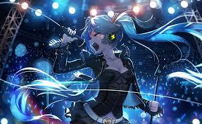 hatsune miku digital wallpaper anime