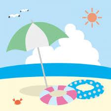 夏の海   フリーイラスト素材のぴくらいく 商用利用可能です