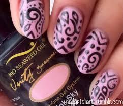 nail art tutorial pink swirl nails