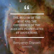 the wisdom of the wise and benjamin d i about experience