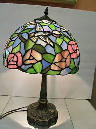 modern stained leaded glass hummingbird