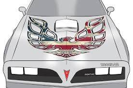 Pontiac Trans Am Firebird Decal American Flag Racerx Customs Truck Graphics Grilles And Accessories