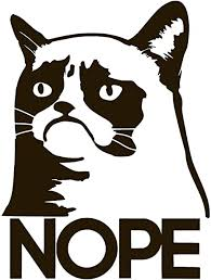 Amazon Com Grumpy Cat Nope Vinyl Sticker Decal 2 25 X 3 Black Arts Crafts Sewing