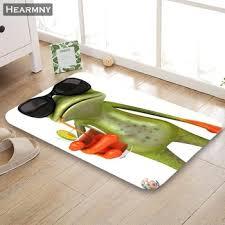 Hearmny New Arrival Doormat Frog Animal Home Mat Machine Made Anti Slip Carpet Living Room Hallway Bath Mat For Kids Gift Erithelendonn