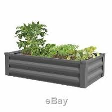 Greenes Fence Powder Coated Metal Raised Garden Bed Planter 24 W X 48 L X 10