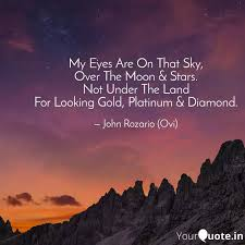 my eyes are on that sky quotes writings by john rozario