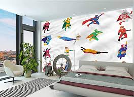 Amazon Com Lcggdb Superhero Wall Mural Decal Supernatural Characters Peel And Stick Self Adhesive Wallpaper For Livingroom Bedroom Nursery School Family Wall Decals 144x100 Inch Posters Prints