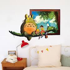 Totoro Wall Sticker Poster Pvc Totoro Wall Art Painting For Living Room Wall Decor Kids Room Posters Art Decoration Stickers Stickers Bedroom From Zengjianwu1993 8 07 Dhgate Com