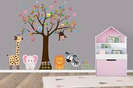 Safari Animal Wall Decals Nature Wall Decal Orange Lion Decal Nurserydecals4you