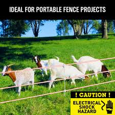 400 Meter Electric Fence Wire Poly Tape Stainless Steel Temporary Fencing Kit Ebay