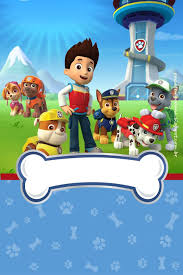 Paw Patrol In Red And Blue Free Printable Party Kit Invitacion