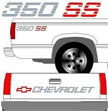Chevrolet Ss Tailgate Truck Lettering 2 350 Ss Vehicle Vinyl Decal Set Ebay