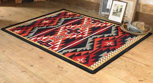 rustic cross black southwestern rug 5 x 8