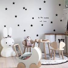 Baby Nursery Bedroom Stars Wall Sticker For Kids Room Home Decoration Children Wall Decals Art Kids Wall Stickers Wallpaper Wall Stickers Aliexpress