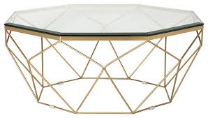 marlow antique brass coffee table