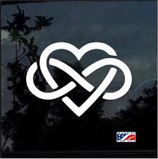 Love Forever Infinity Heart Window Decal Sticker Custom Sticker Shop