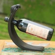 wood 1 bottle tabletop wine bottle rack