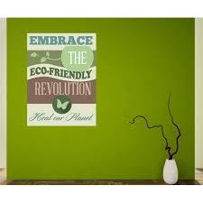 Embrace The Eco Friendly Revolution Wall Decal Vinyl Decal Car Decal Idcolor006 25 Inches Walmart Com Walmart Com