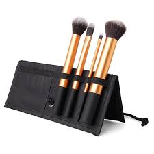 4 brushes makeup set synthetic hair
