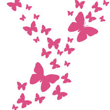 Butterfly Wall Decal Hot Pink Girls Butterfly Room Decor Decals