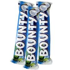 bounty x 3 chocolate bars send gifts