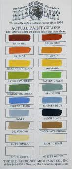 milk paint colors by the old fashioned