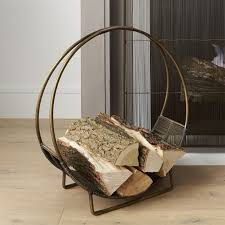 fireplace wood log holder view