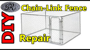 Diy Mending Chain Link Fence Panels Dog Kennel Fencing Perimeter Youtube