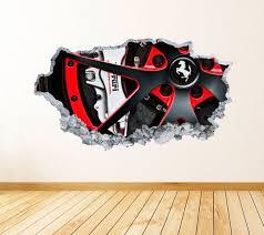 Ferrari Wall Art Decal Racing Theme Wall Decor Bedroom Vinyl Etsy