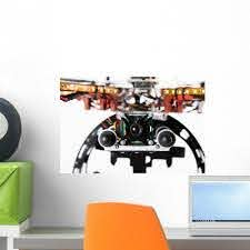Camera On Drone Wall Decal Wallmonkeys Com