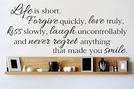Decal Vinyl Wall Sticker Life Is Short Forgive Quickly Quote 12x30 Contemporary Wall Decals By Design With Vinyl