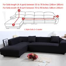 all cover sectional sofa l shape 2pcs