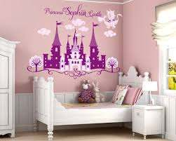 Princess Castle Personalized Name Decal Nursery Decal Girl S Room Decal Castle Wall Sticker Disne Girls Room Decals Girl Nursery Wall Nursery Wall Stickers