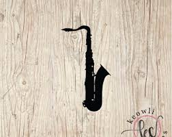 Saxophone Wall Decal Etsy