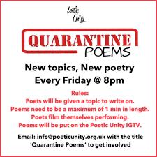 charity launches quarantine poems