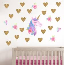 Cute Unicorn Wall Stickers For Kids Rooms Girls Bedroom Decor Diy Poster Cartoon Animal Wallpaper Stickers On The Wall Unique Wall Decals Wall Mural Decals From Pcharon 0 77 Dhgate Com