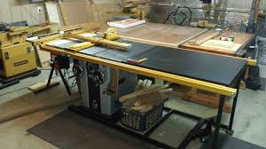 The Ever Evolving Workshop 1 New Delta Unisaw With 52 Rip Incra Ts Ls And Left Side Router Table By Emrhappy Lumberjocks Com Woodworking Community