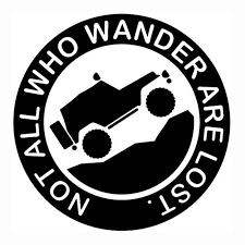 13cm 13cm Not All Who Wander Are Lost Off Road Adventure Delicate Car Sticker Vinyl Decor Decals Car Stickers Aliexpress